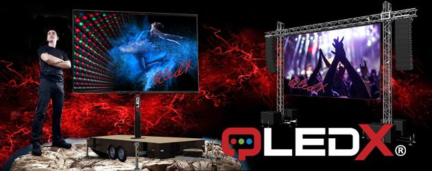 Nieuw in de verhuur: Grote HD-ledschermen.