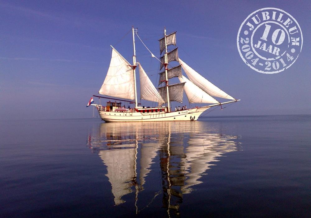 Zeilschip Bounty bestaat in april 10 jaar!